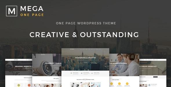 Mega One Page - Creative One Page WordPress Theme - Portfolio Creative