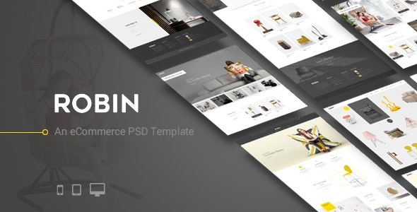Robin - An eCommerce PSD Template - Retail Photoshop