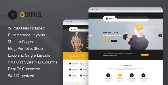 Osiris - Construction PSD Template - Business Corporate