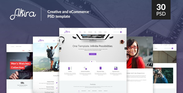 Akira - Creative and eCommerce PSD Template - Creative Photoshop