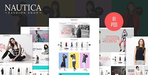 Nautica - Fashion eCommerce PSD Template - Fashion Retail
