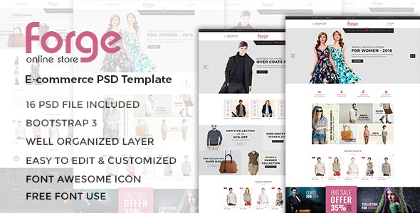 Forge - eCommerce PSD Template - Fashion Retail