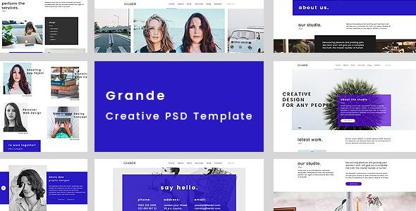 GRANDE - Creative Multipurpose PSD Template - Creative Photoshop
