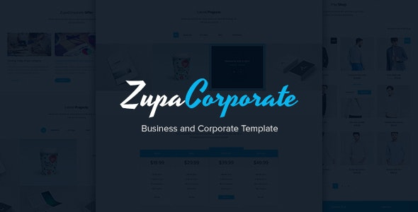 ZupaCorporate – Business and Corporate PSD Template - Corporate PSD Templates