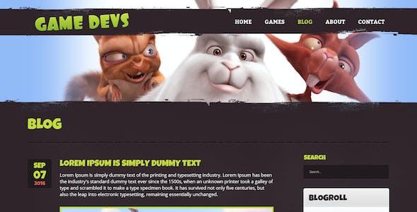 Game Devs Redux - Responsive HTML