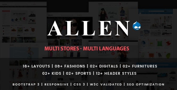 Allen - Multipurpose Responsive Drupal 7 Theme - Shopping Retail