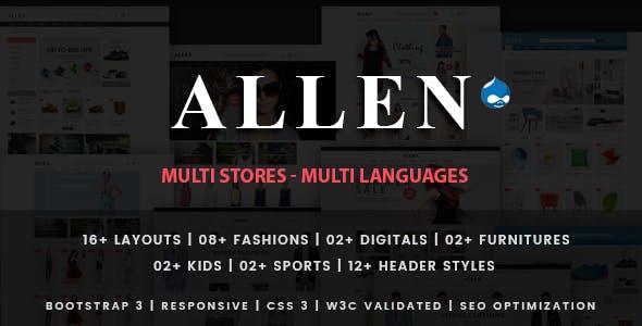 Allen - Multipurpose Responsive Drupal 7 Theme
