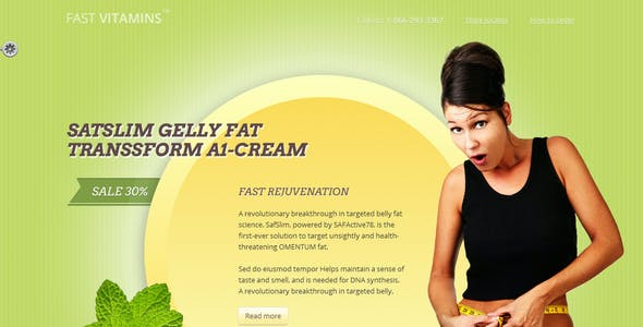 FAST E Vitamins Weight Loss Landing Page