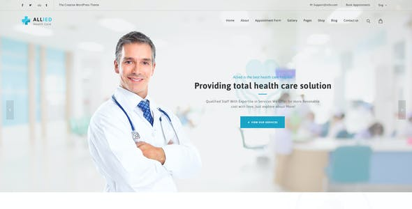 Allied Health Care : Medical PSD Template