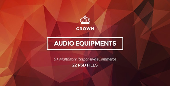 Crown - Audio Equipments PSD Template - Retail Photoshop