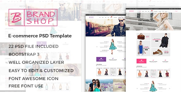 Brandshop - eCommerce PSD Template - Fashion Retail