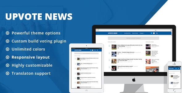 UpVote - Social Bookmarking WordPress Theme by ThemeWarriors