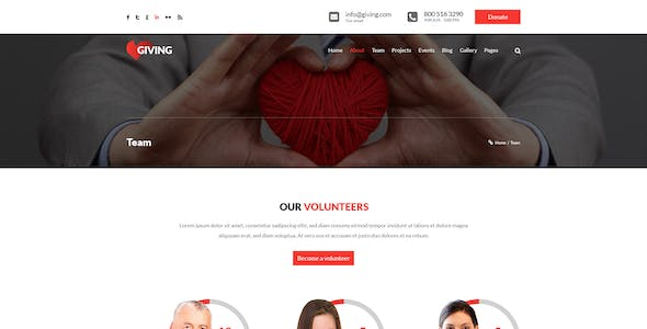 Giving - NGO and Charity PSD Template