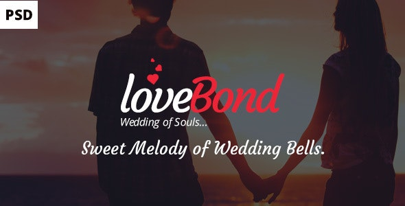 LoveBond One Page Wedding PSD Template – beautiful and awesome - Events Entertainment