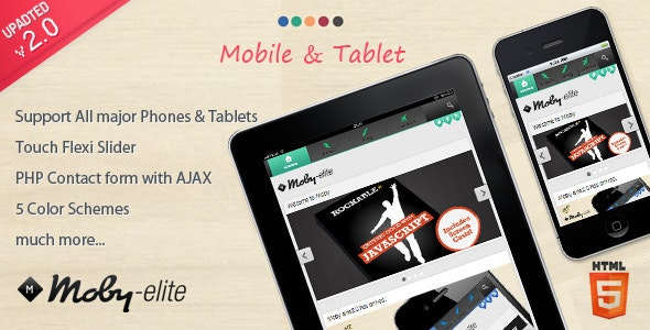 Moby elite - Mobile Template - Mobile Site Templates
