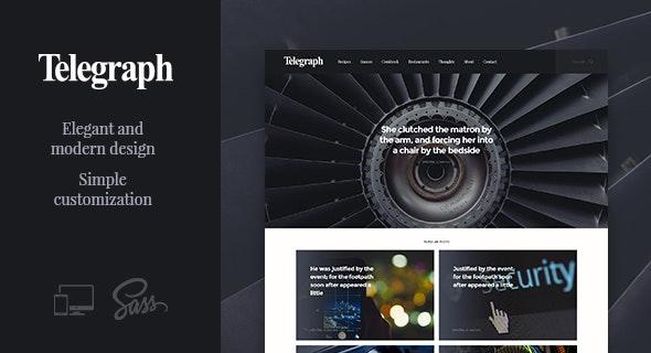 Telegraph – Creative WordPress Blog Theme - Blog / Magazine WordPress