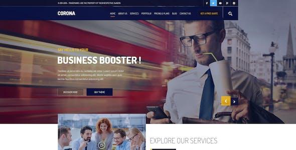 Corona Corporate PSD Template