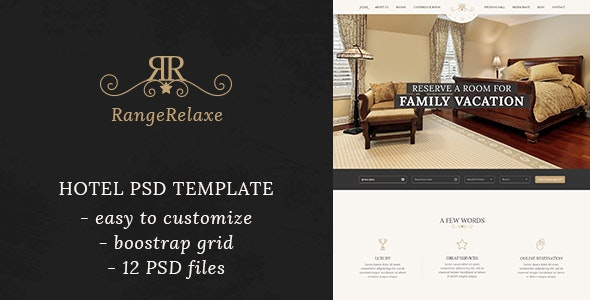 RangeRelaxe - Hotel & Resort PSD Template - Business Corporate