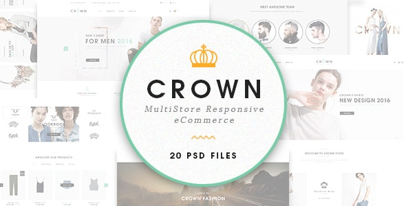 Crown - Ecommerce PSD Template - Retail Photoshop