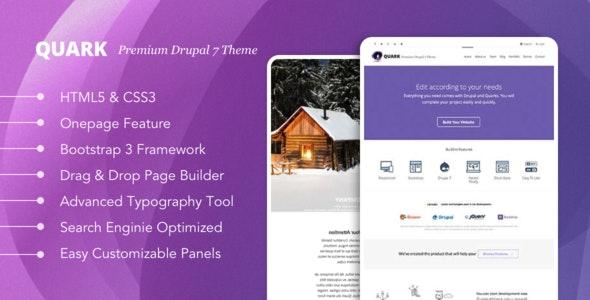 Quark: Responsive Multipurpose Drupal 7 Theme - Drupal CMS Themes