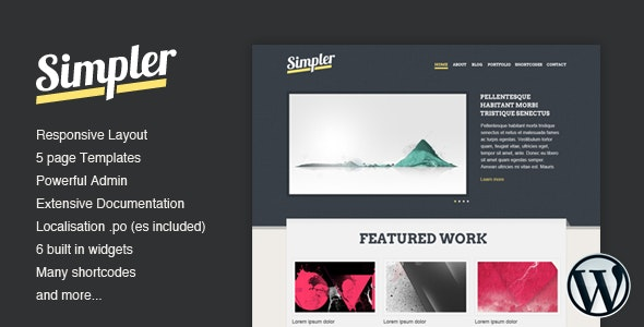 Simpler WordPress Theme - Portfolio Creative