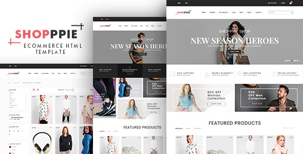 eCommerce HTML Template - Shopppie - Fashion Retail