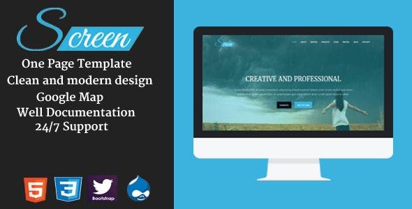 Screen - Onepage Creative Drupal Theme - Creative Drupal