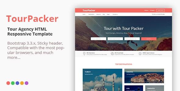 Tour Packer - Responsive HTML Template - Travel Retail