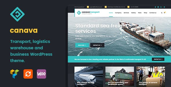 Canava - Logistics and Business WordPress Theme