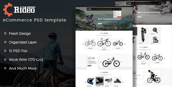 Rideo eCommerce PSD Template - Shopping Retail