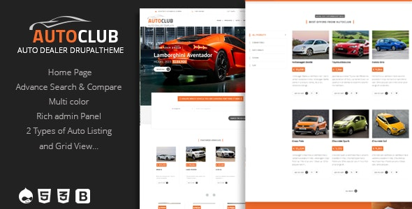 Auto Club - Responsive Car Dealer Drupal Theme - Travel Retail