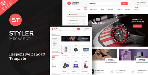 Styler Mega Shop - Responsive Zencart Theme - Fashion Zen Cart