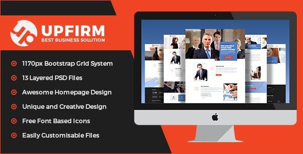 UpFirm- Multi Purpose PSD Template - Corporate Photoshop