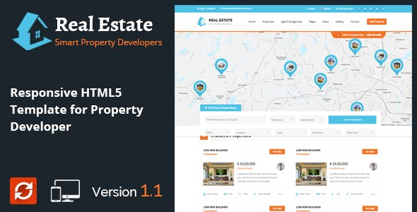 Real Estate - Property Developers HTML5 Template