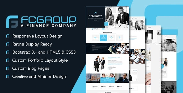 Finance Group - Multi Purpose HTML5 Website Template - Corporate Site Templates
