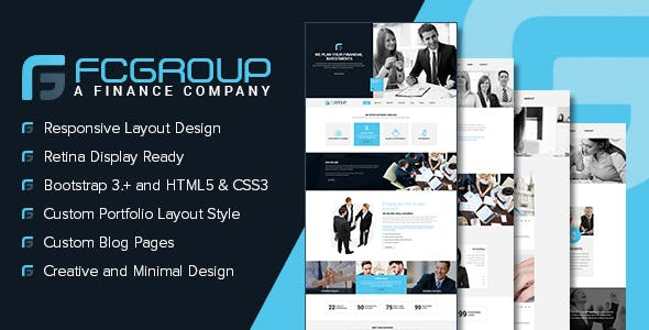 Finance Group - Multi Purpose HTML5 Website Template