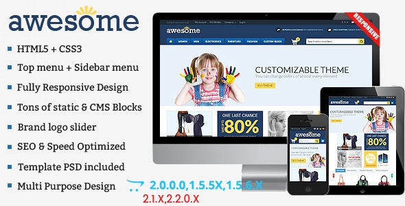 Awesome - Responsive Multipurpose OpenCart Theme - Shopping OpenCart