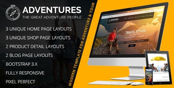 Adventures – Adventure And Tourism HTML & Wordpress Theme - Travel Retail