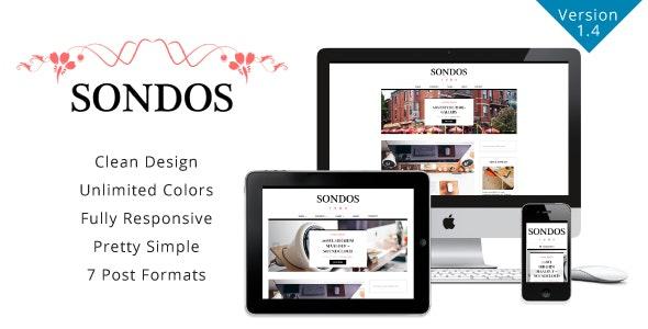 Sondos - Clean WordPress Blogging Theme - Personal Blog / Magazine