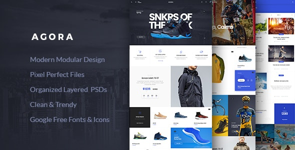Agora – eCommerce PSD Template - Shopping Retail