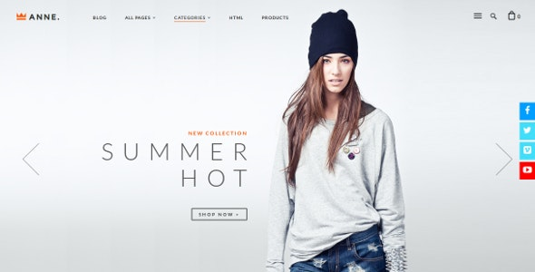 Anne Opencart Theme - Fashion OpenCart