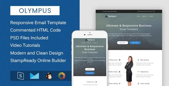 Olympus - Multipurpose & Responsive Email Template + Builder - Email Templates Marketing