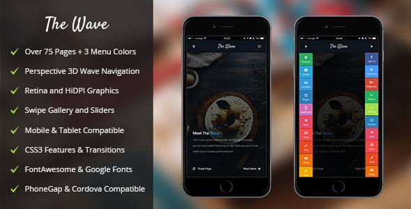 Wave Mobile - Mobile Site Templates