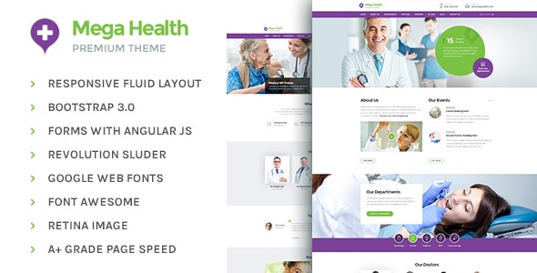 MegaHealth - Health and Medical Centers HTML5 Template - Health & Beauty Retail