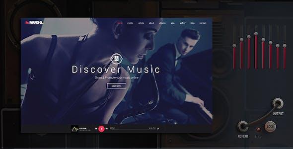 Muziq - Music Band & Musician WordPress Theme