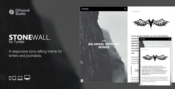 StoneWall: A Responsive Tumblr Theme for Writers and Journalists - Blog Tumblr