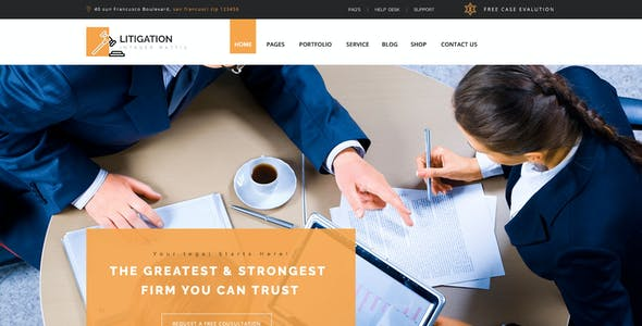 Litigation - Law Firm PSD Template