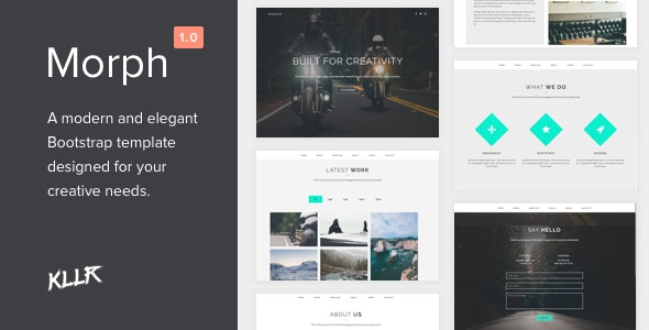 Morph - Single Page Bootstrap Template - Portfolio Creative