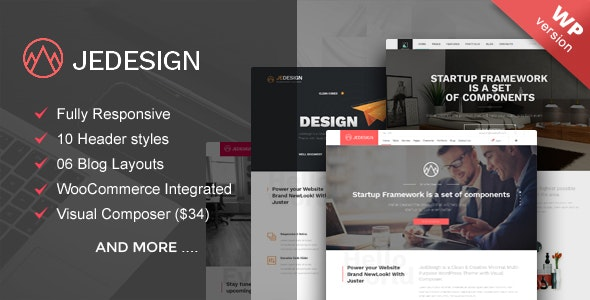 Jedesign multipurpose WordPress theme - Business Corporate