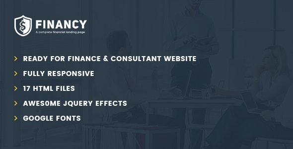 Financy - Consulting Business, Finance HTML5 Template - Corporate Site Templates